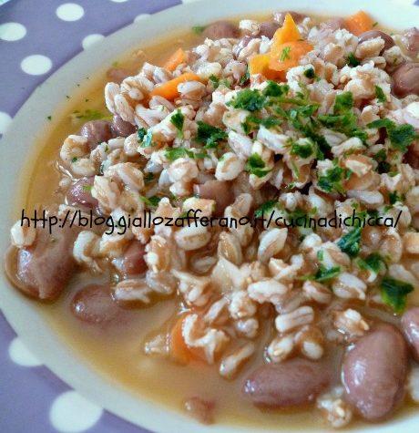 Zuppa di farro con fagioli