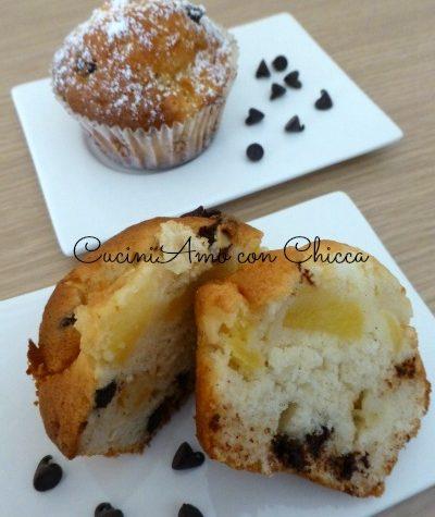 Muffin alle mele con cioccolato