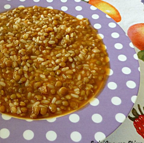 Zuppa di lenticchie e riso