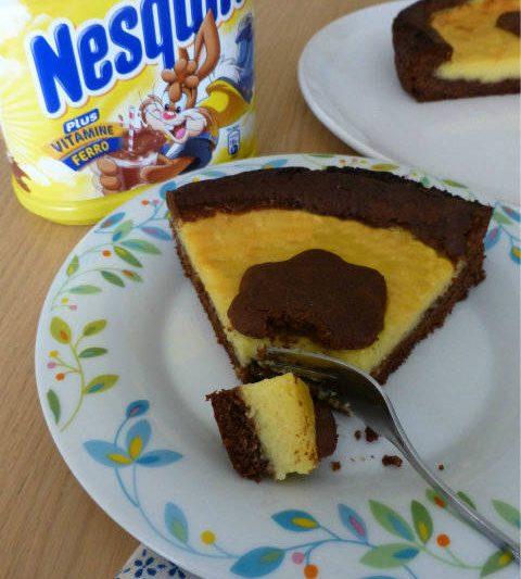 Crostata al nesquik e crema d'arancia