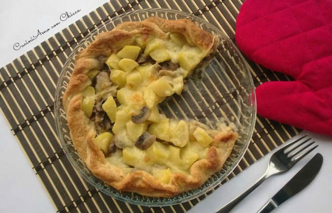 Torta salata con funghi e patate|CuciniAmo con Chicca