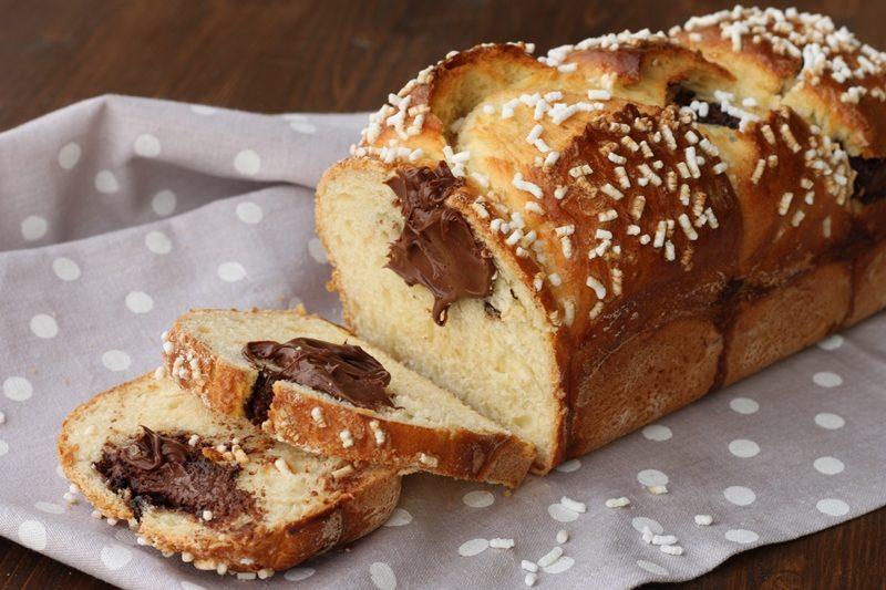 Pan brioche con nutella