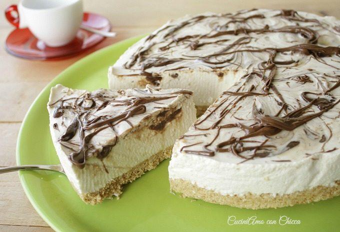 Torta fredda caffe variegato nutella