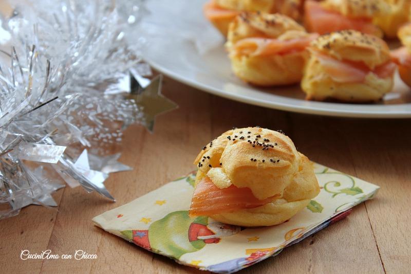 Bignè al salmone |CuciniAmo con Chicca