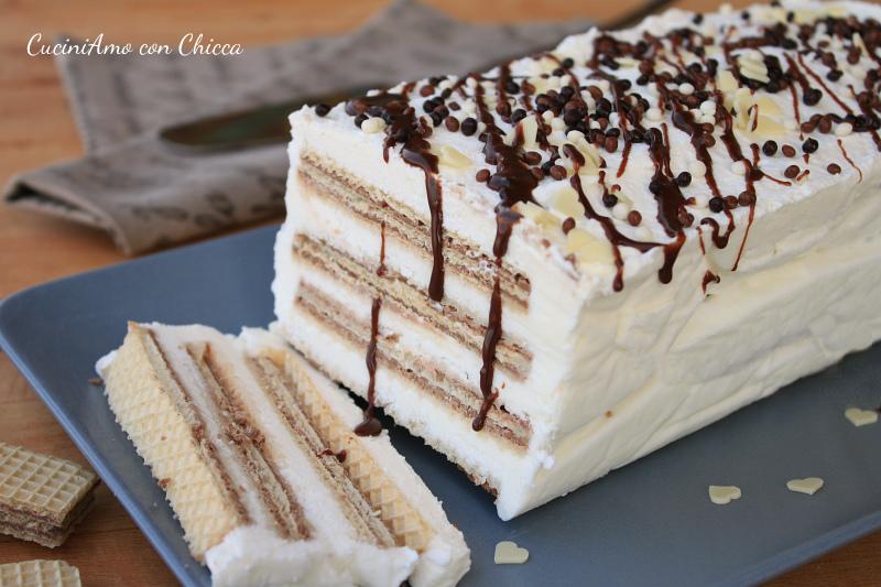 Mattonella ai wafer e yogurt |CuciniAmo con Chicca