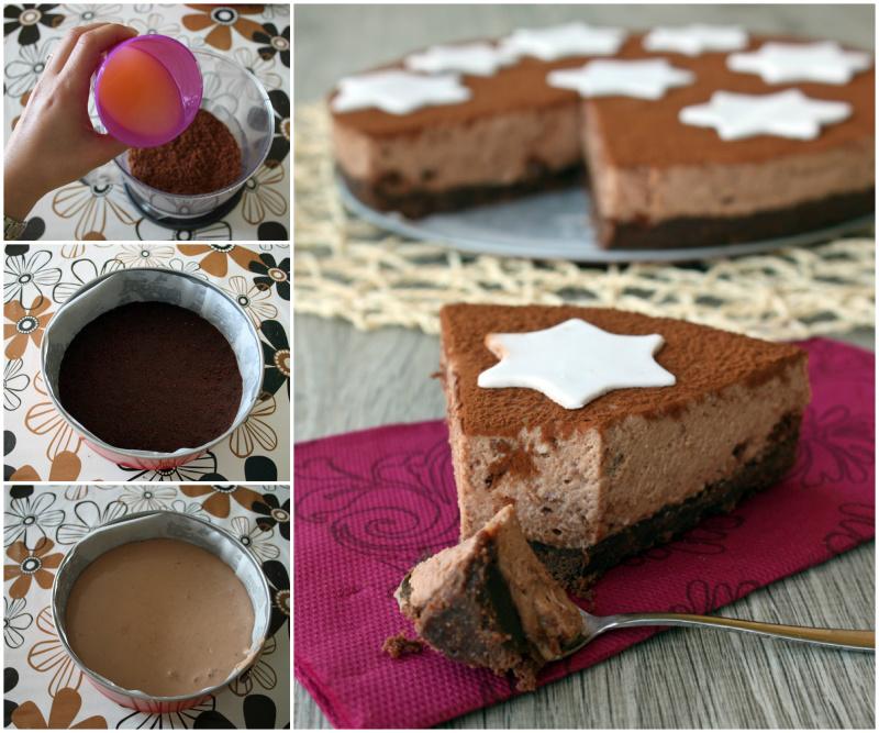 Collage cheesecake pan di stella