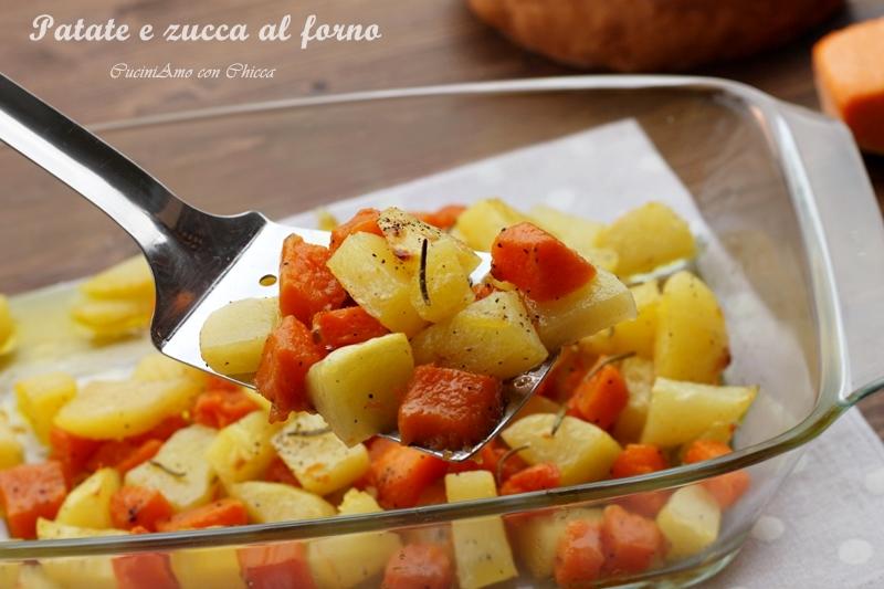 Patate e zucca al forno |Contorno facile