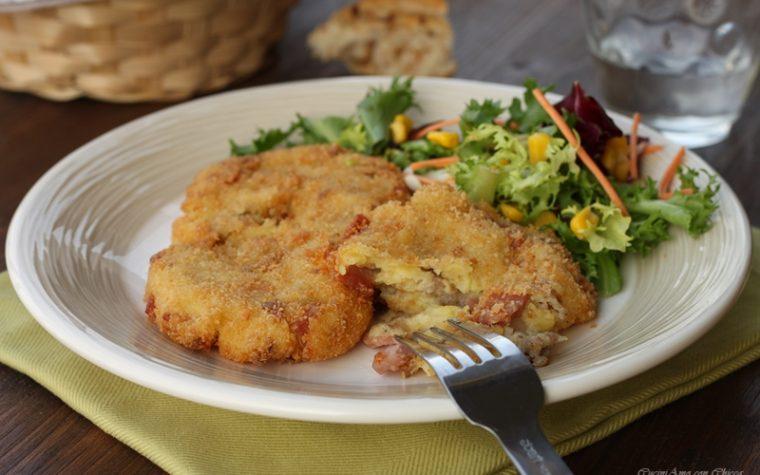 Cotolette di patate e salsiccia