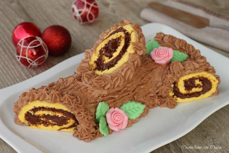 Come Decorare Un Tronchetto Di Natale.Tronchetto Di Natale Alla Nutella