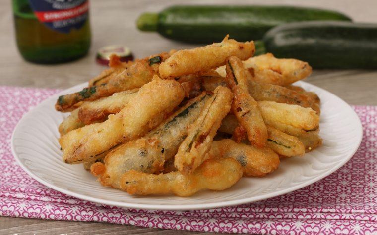 Zucchine fritte con pastella senza uova