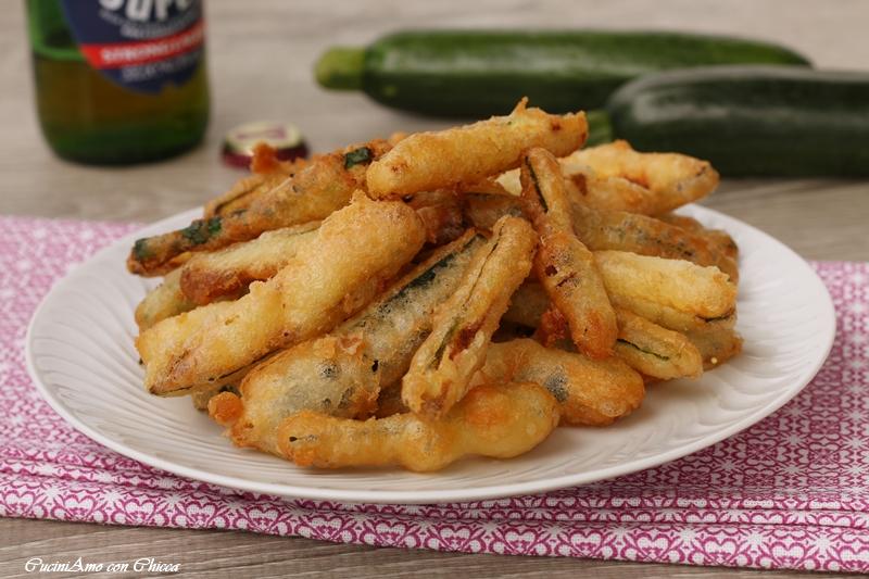Zucchine fritte con pastella senza uova |CuciniAmo con Chicca