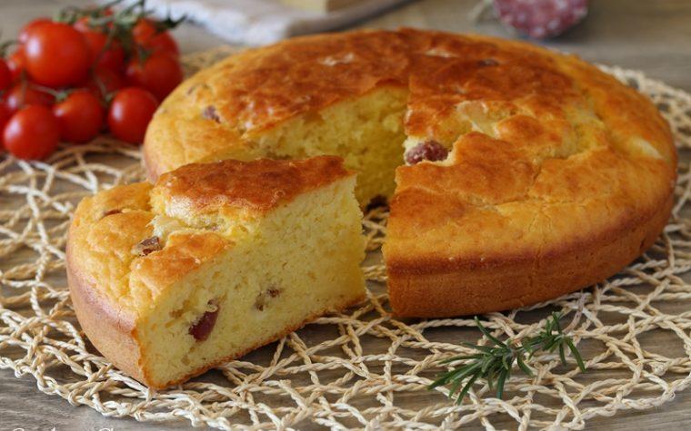 Torta 7 vasetti con provola e salame