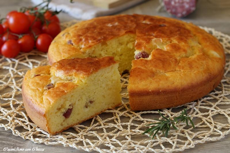 Torta 7 vasetti con provola e salame |CuciniAmo con Chicca