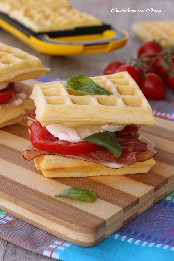 Waffel salati farciti   CucinAmo con Chicca