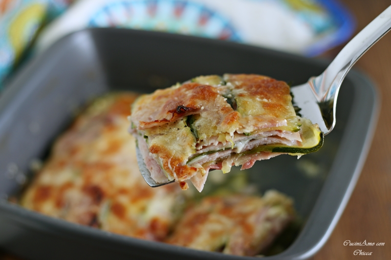 Lasagne di Zucchine con Cotto e Scamorza