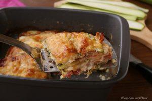 Lasagna di zucchine speck e provola