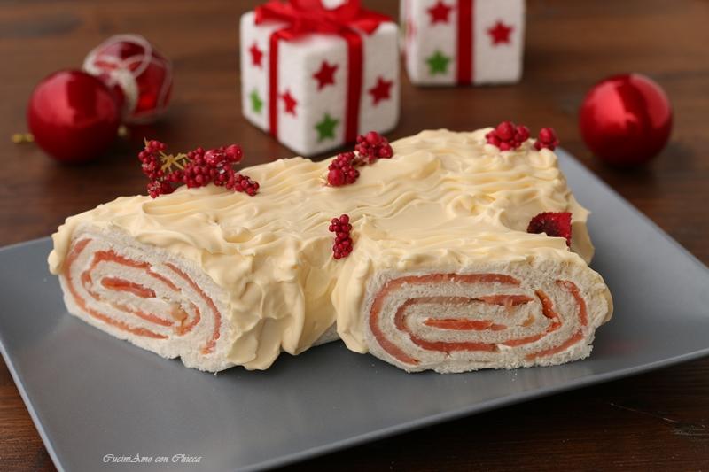 I Migliori Menu Di Natale.Tronchetto Di Natale Al Salmone E Philadelphia