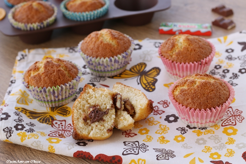 Muffin soffici al kinder