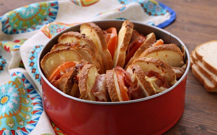 Ciambella di pane golosa