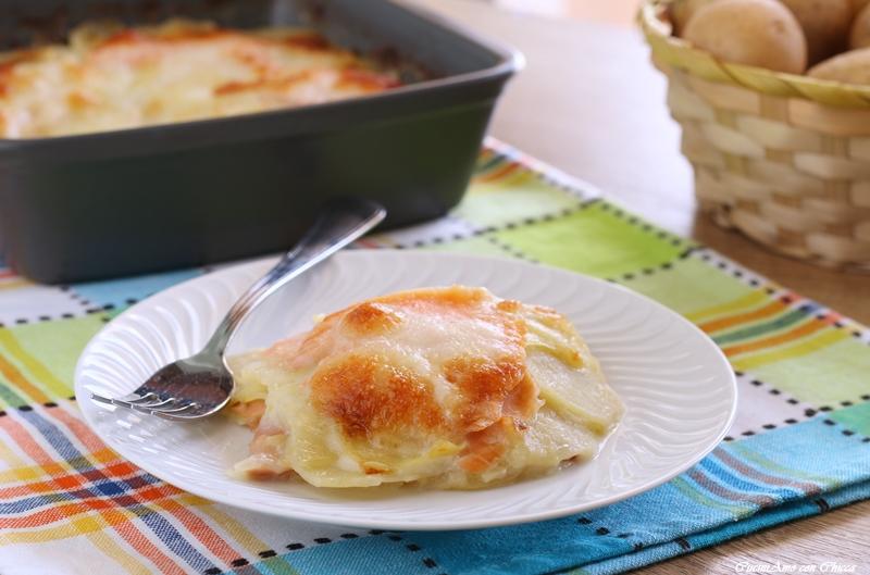 Parmigiana di patate con salmone