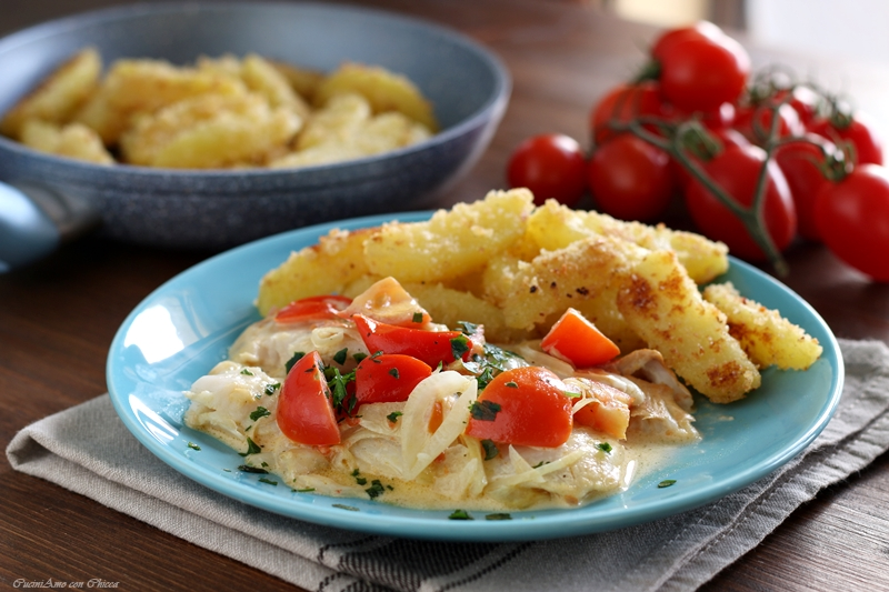 Filetti di pesce alla Bangkok con patate croccanti