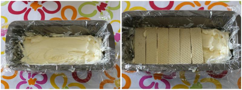 Mattonella ai wafer con gelato alla crema