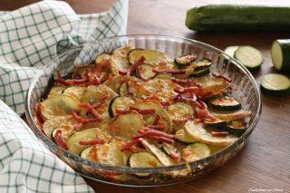 Crostata di verdure al forno con speck
