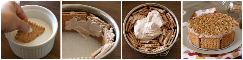 Torta di biscotti senza cottura