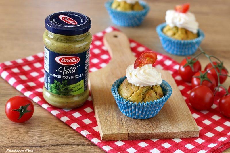 Muffin al Pesto e pomodorini