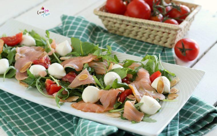 Insalata di salmone e mozzarella