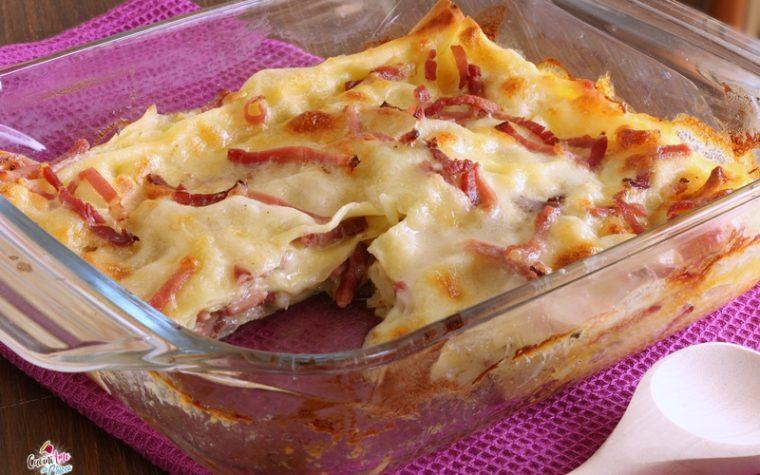 Lasagna con speck e besciamella