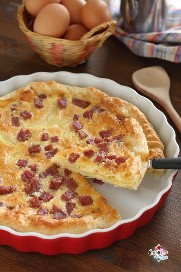 Sfogliata con Patate e Salame