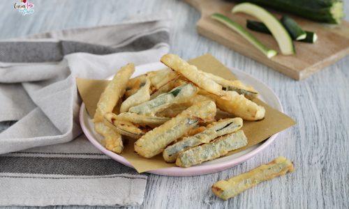 Stick di zucchine con pastella leggera