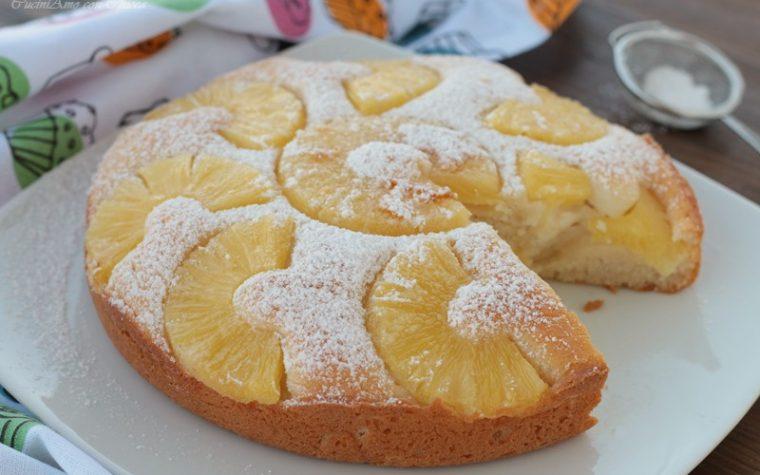 Torta ricotta e ananas senza uova