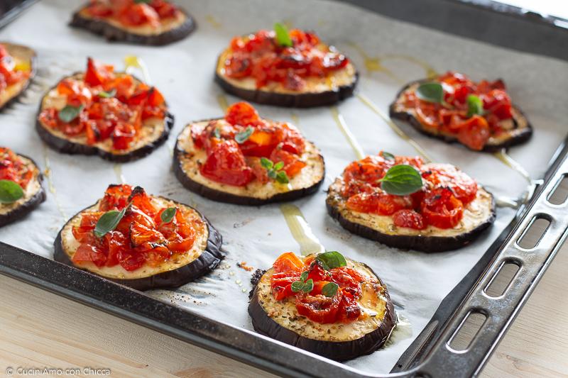 Melanzane al forno con pomodorini ricetta veloce