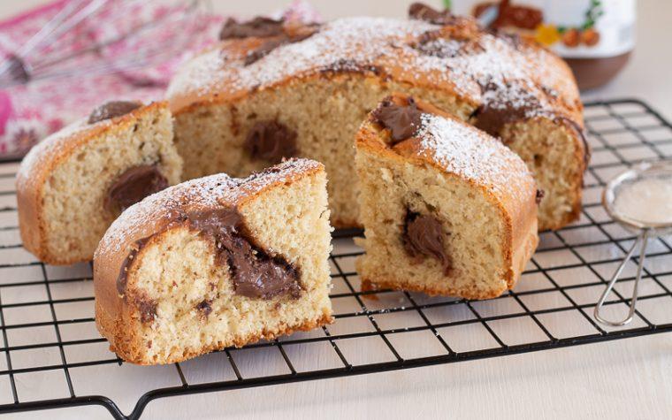 Torta morbida con nutella
