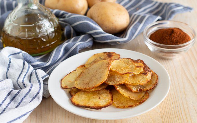 Chips di patate croccanti al forno