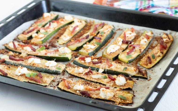 Zucchine gratinate con ricotta e speck