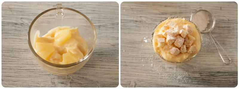 TORTA MIMOSA IN TAZZA dessert facile