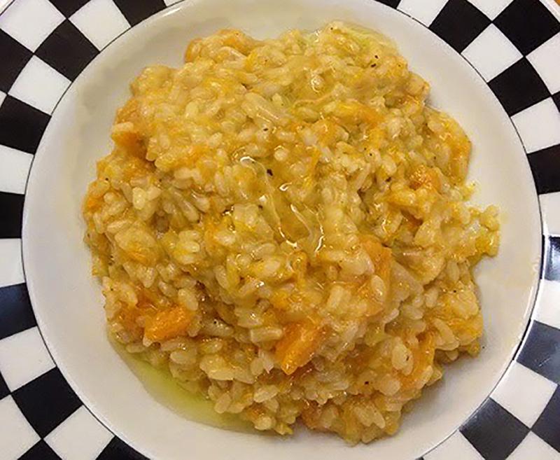 risotto zucca e pinoli