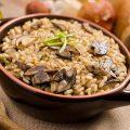 Risotto funghi porcini noci e gorgonzola