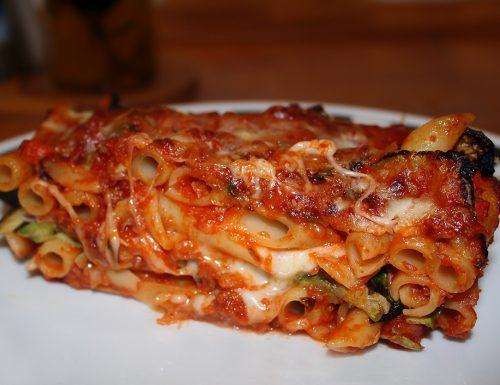 Pasta al forno ragù e zucchine – Ricetta light