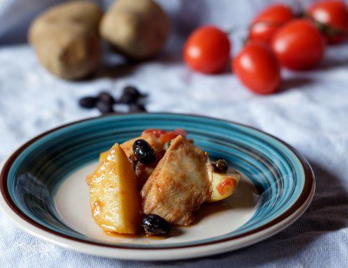 Pesce stocco e patate alla calabrese