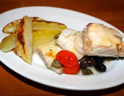 Pesce stocco (Stoccafisso) al forno con patate