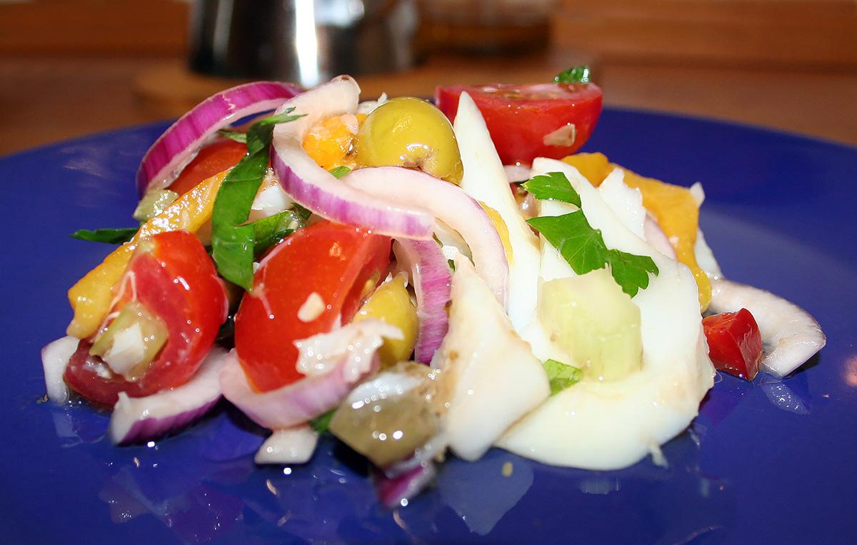 Pesce stocco in insalata