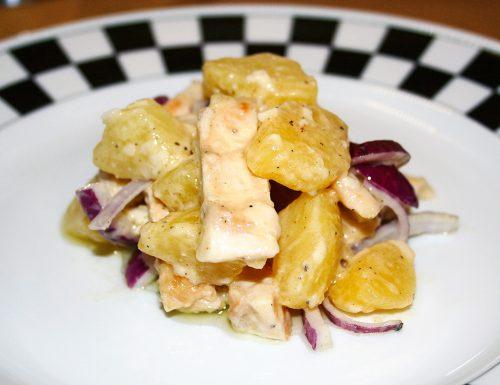 Insalata tiepida di pollo e patate alla senape
