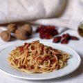 Spaghetti in crema di pomodori secchi