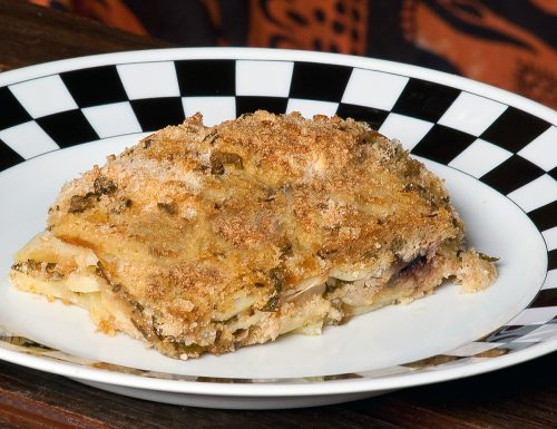 Tortiera di pesce stocco e patate