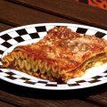 Lasagne ricce con peperoni e funghi