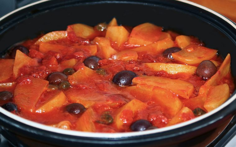Stoccafisso e patate in tajine